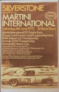 Large poster for the Martini International Meeting, Silverstone, 6 June 1970.