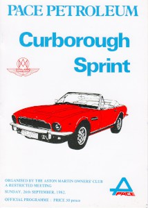 Programme for Curborough Sprint on 26th September 1982