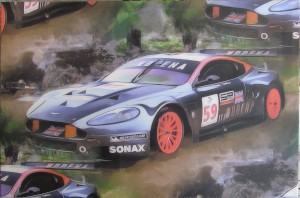 Unframed stetched canvas print of DBR9/101 team Modena