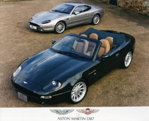 Press Photograph of an Aston Martin DB7 Volante and Coupe