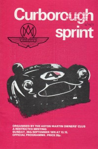 Programme for Curborough Sprint 26th September 1976