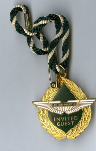 Goodwood Aston Martin Invited Guest Swing tag