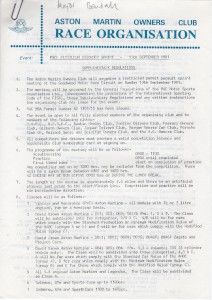 Supplementary Regulations for Goodwood 81 Pursuit Sprint on 13th September 1981