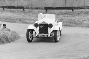 Black and White Negative Strips-Roger Stowers photographs-Prescott, VSCC Meeting 1975,August,10th.Aston Martin DB4GT Zagato 1 VEV.