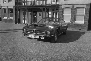 Black and White Negative Strips: DB4GT (DB4GT/0159/R),Lagonda and DBS,Sunnyside and factory Newport Pagnell. 3rd October,1975.