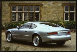 Press Photograph of an Aston Martin DB7 i6 prototype rear 3/4