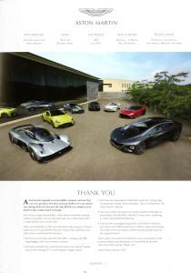 'AM People' Aston Martin internal Magazine. Num.83 Jan 2019