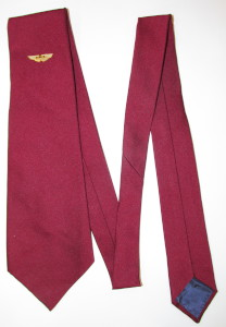 Red Aston Martin Tie with White and Gold Wings