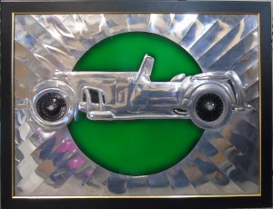 Large artwork '1935 Aston Martin Short Chassis Tourer' Artistry in Aluminium by Paul Pennell