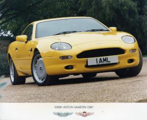 Press Photograph of the 500th Aston Martin DB7
