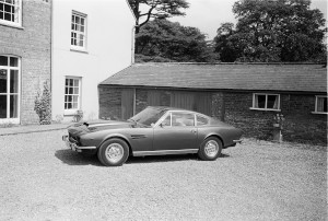 Black and White Negatives. Aston Martin V8 press photography on location at Weston Underwood.1976,5th August.