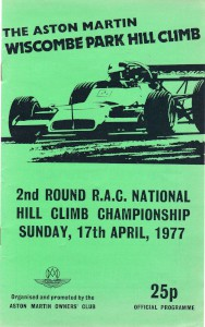 Programme for Wiscombe Park Hill Climb 16th & 17th April 1977