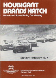 Programme for Houbigant Brands Hatch, Historic and Sports Racing Car Meeting 15th May 1977