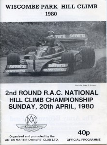 Programme for Wiscombe Park Hill Climb on 19th & 20th April 1980