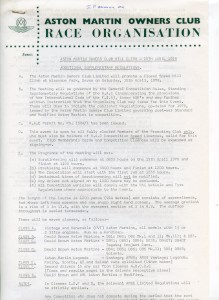 Additional Supplementary Regulations for Members Day at Wiscombe Park Hill Climb, 15th April 1978
