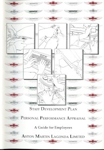 Aston Martin Personal Performance Appraisal booklet