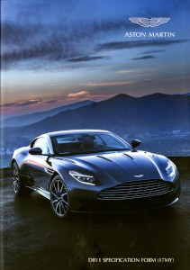 Brochure: Aston Martin DB11 Specification Form, 2017 Model year
