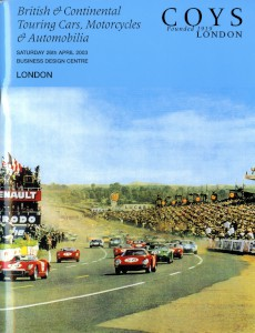 Auction Catalogue - Coys' Catalogue, 'British & Continental Touring Cars, Motorcycles & Automobilia' 26th April 2003