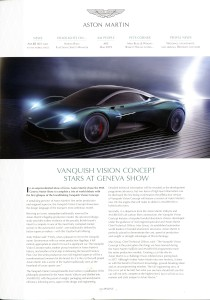'AM People' Aston Martin internal Magazine. Num.85 Mar 2019