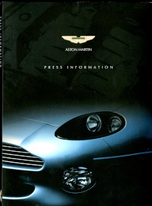 Aston Martin Press pack for the Birmingham Motorshow, 17th October 2000