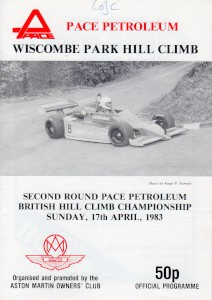 Programme for Wiscombe Park Hill Climb on 16th & 17th April 1983