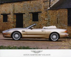Press Photograph of an Aston Martin DB7 Volante