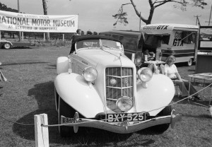 Black and White Negatives: Yeovil Car Club Ltd. 4th Cavalcade of Motoring 17 August 1975