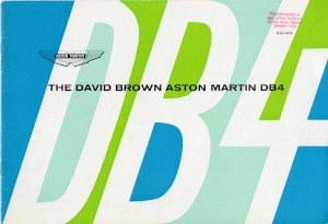 brochure for Aston Martin DB4 from 1963