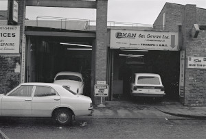 Black and White Negatives: Colin Thew - Aston Martin Service support centres 1975-76