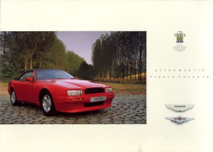 Brochure for the Aston Martin Virage Volante, 1990.