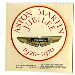 Sticker: Aston Martin Jubilee 1920-1970