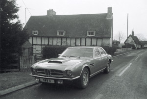 Black and White negatives. DB4GT Zagato, 845.NK.01 (DB4GT/0181/L) Lagonda V8 Saloon, SWW 6 (L/12001/RCAC) March 1975.