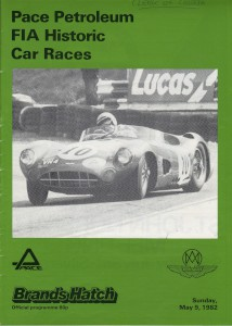 Race Programme for FIA Historic Car Races on 9th May 1982