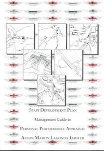 Aston Martin Lagonda  Staff Development Plan - 'Management Guide to Personal Performance Appraisal' booklet