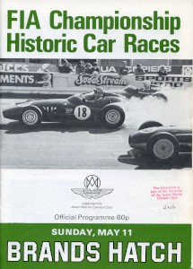Programme for FIA Championship Historic Car Races, Brands Hatch, 11th May 1980