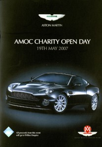 Leaflet for the AMOC charity open day at Newport Pagnell