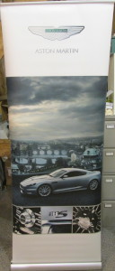 Pop-up display stand for the Aston Martin DBS
