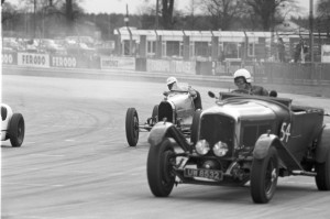 Black and White Negative Strips-Roger Stowers photographs-Silverstone, VSCC  Meeting April 19th 1975.Team Car LM 10-MV 2793,2 Litre 15/98- F7/808/SO,1.5 litre 2nd series-F3/282/S competing on track.