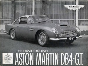 Single page brochure for Aston Martin DB4 GT