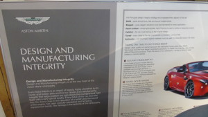 Display Board on the 'Design and Manufacturing Integrity' of Gaydon built Aston Martins