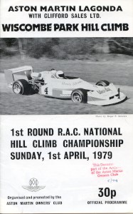 Programme for Wiscombe Park Hill Climb - Members Day and RAC National Hill Climb, 31st March and 1st April 1979