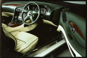 Press Photograph of the interior of an Aston Martin DB7 Vantage coupe.