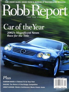 'The Robb Report' Magazine, February 2002 - 'Aston Martin Vanquish: Getting up to speed with the Italians.'