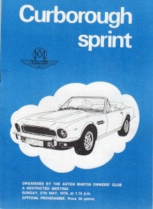 Programme for Curborough Sprint 27th May 1979