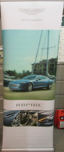 Pop-up display stand for the Aston Martin Rapide