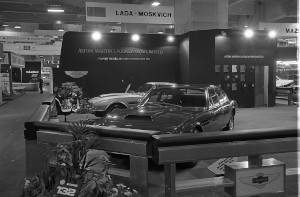 Black and White Negative Strips:Earls Court Motor Show.AMV8 and V8 Lagonda show cars on Aston Martin Stand.October 15-25,1975.Sheet 14.