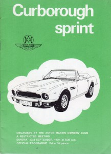 Programme for Curborough Sprint 23rd September 1979