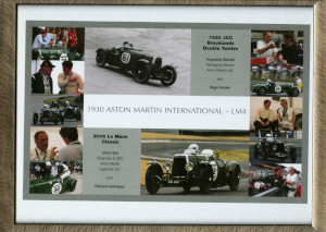 Framed photo collage of image of LM4 at the 2006 Le Mans