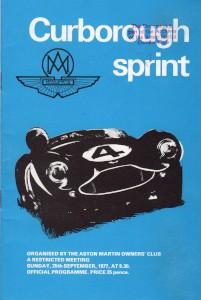 Programme for Curborough Sprint 25th September 1977