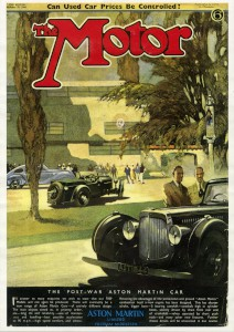 Poster: 'The Motor' magazine front cover, October 25th., 1944.